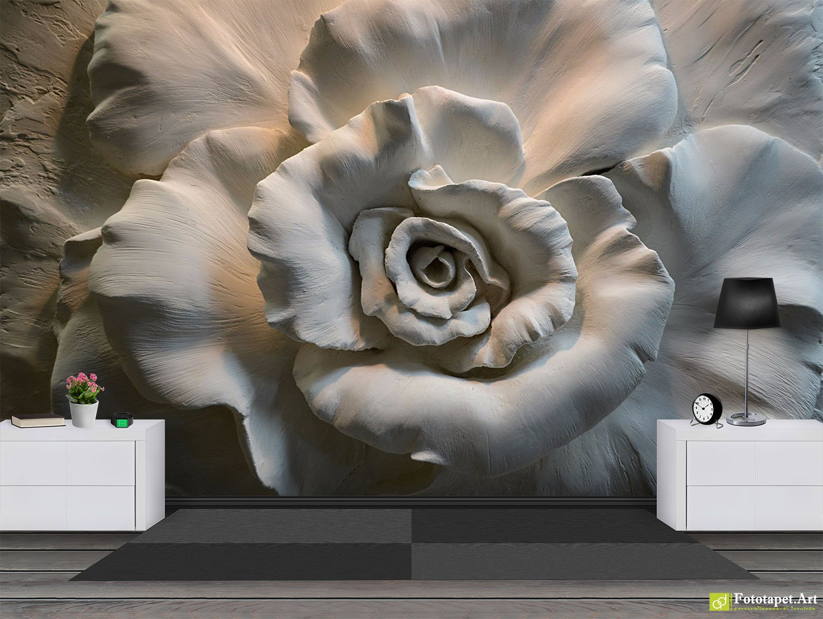 Photo Wallpaper 3D Effect - Rose with 3D effect | Fototapet