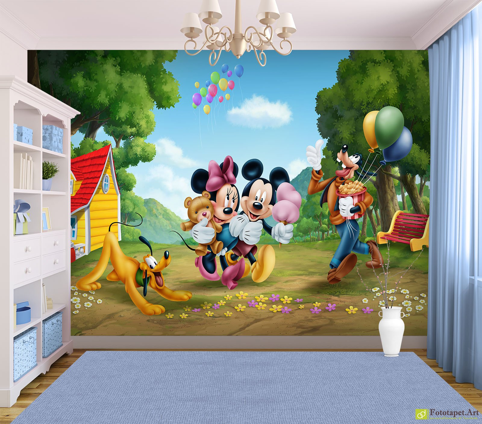 Childrens Wallpaper Wall Murals Mickey And Friends In The