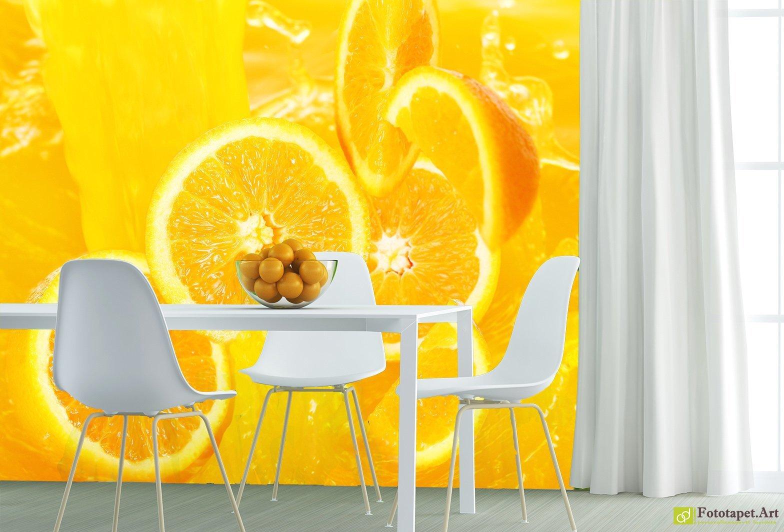 обои апельсины для кухни себе праздник