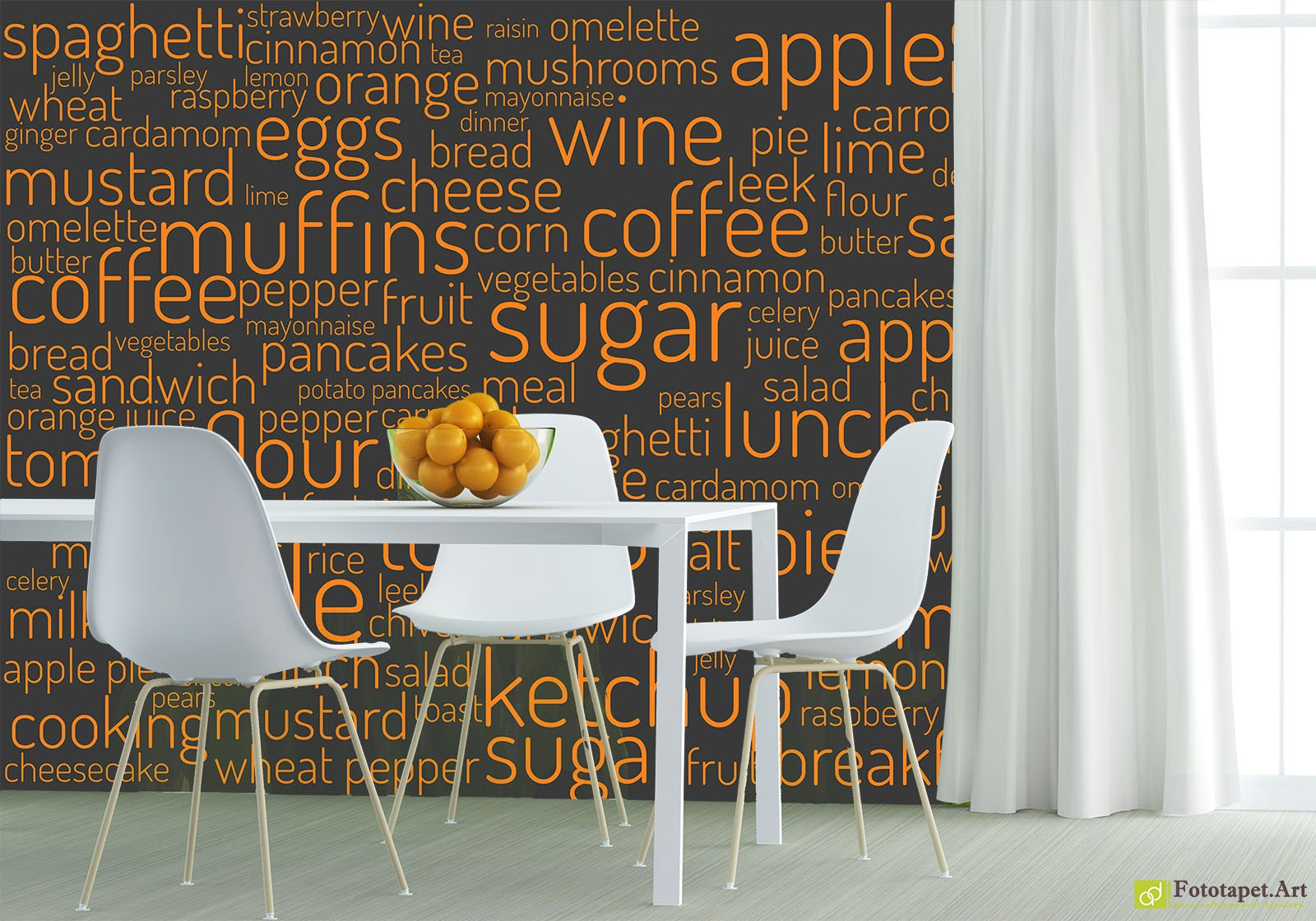 Kitchen Wallpaper Wall Murals Inscriptions On The Wall Fototapet Art Make The Most Of Your Walls And Personalize Your Kitchen With The Pattern And Texture Of Wallpaper