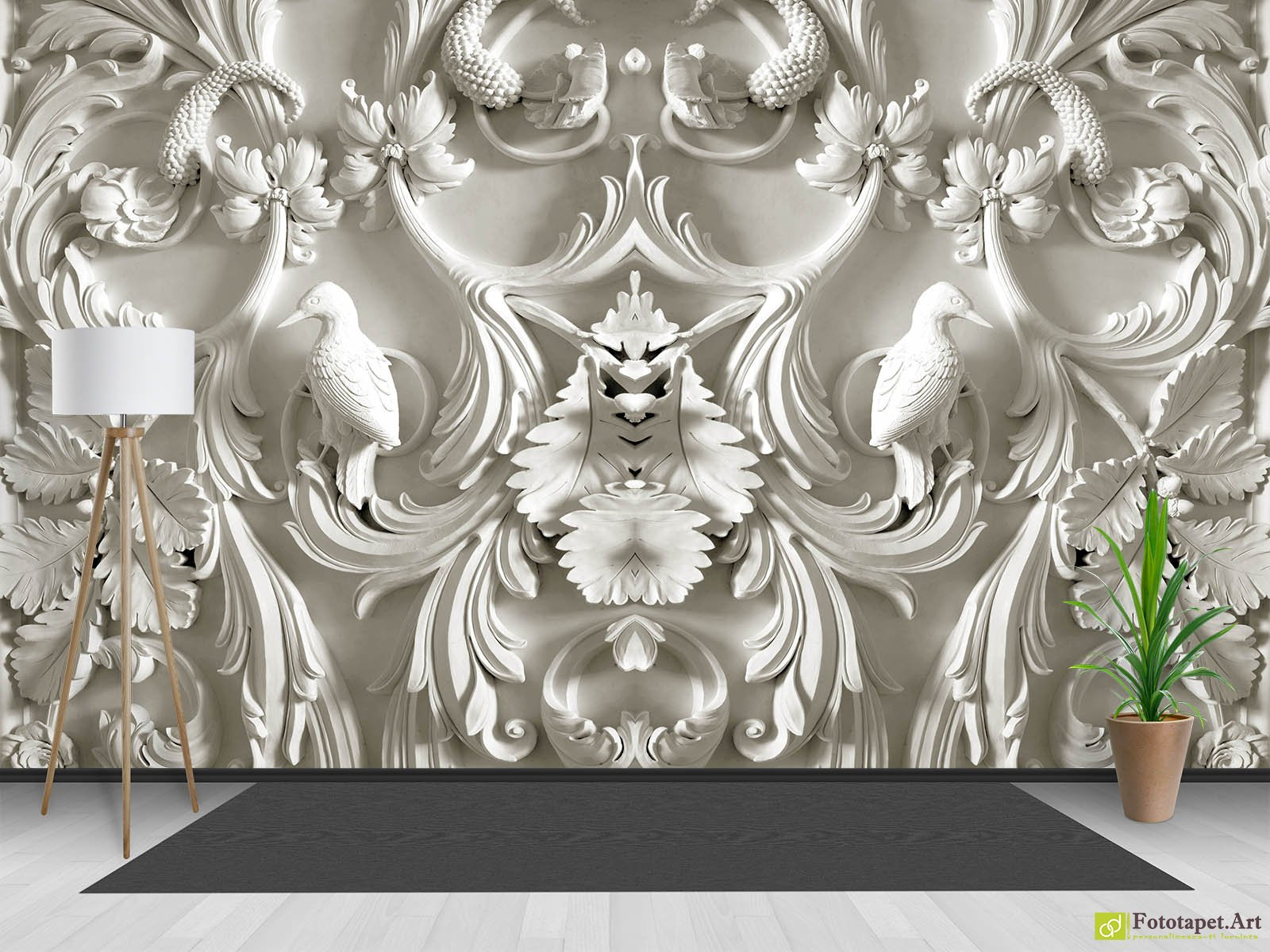 Wallpaper 3DEffect Birds Of Gypsum And Loops